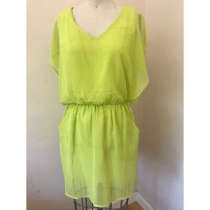 Lime dress with pockets